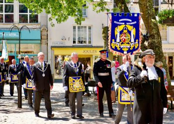 Cornish Masons Parading in Truro