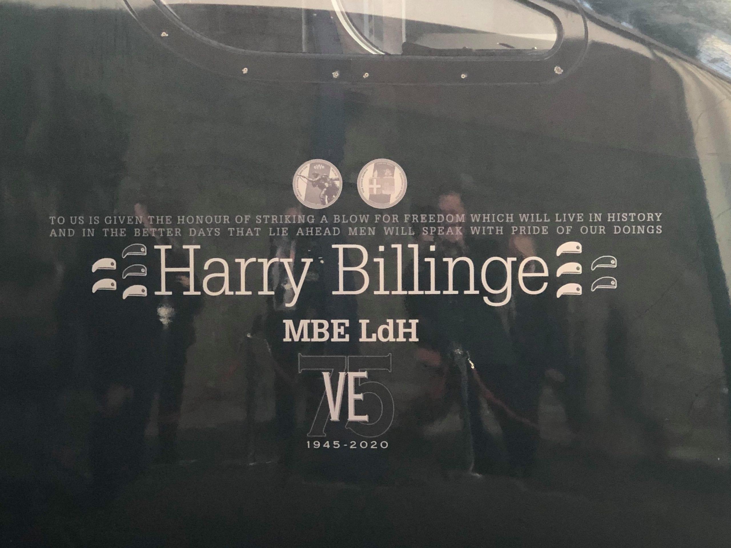 harry billinge name on train