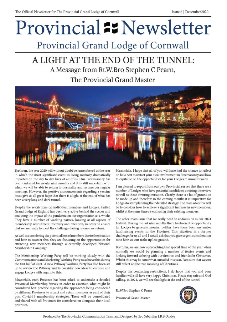 provincial newsletter december 2020